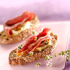 photo-recette-cuisine-tartine-de-chevre-au-jambon-cru