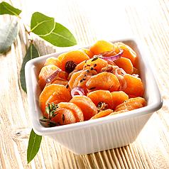 photo recette de cuisine salade tiede de carottes aux raisins secs