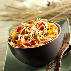 photo recette de cuisine salade tiede de pates au the vert